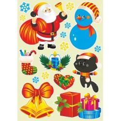 Sada vianočných nálepiek (1)