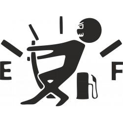 Nálepka na auto- tankovanie